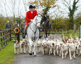 Peter Collins and the Quorn Hounds - The Quorn at Fox Covert Farm