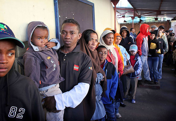 Madagascar, Antananarivo. The Social Hygiene Institute hosts the main center for screening and treatment of tuberculosis in M...
