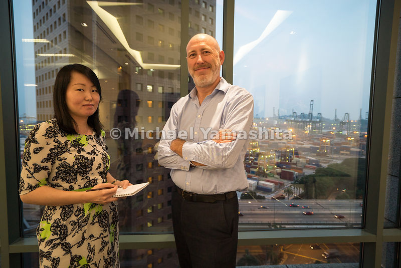 GARD Insurance office, Managing Director John Martin and Underwriter Eilanda Lui.