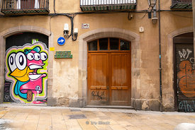 Graffiti on the streets of Barcelona, Spain