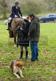 Boogie Machin, Will Turner at the meet - The Belvoir Hunt at Croxton Park 23/2