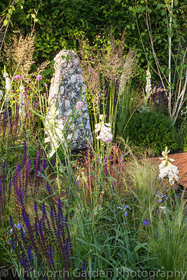 The Streetscape's Summer in Sussex garden at the RHS Hampton Court Flower Show 2016. Designer: Will Williams. Sponsor: Street...