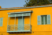 Colonial house on the historical embankment of the Senegal river, Podor, Senegal