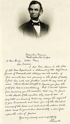 Letter written by Abraham Lincoln