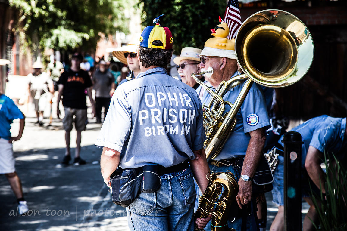 Ophir Prison Marching Kazoo Band and Temperance Society in Sacramento, 2014