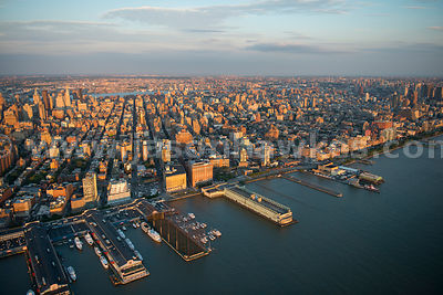 Aerial view of Chelsea and Greenwich Village, Manhattan