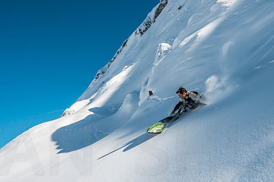 Snow surfing with Charles Navillod