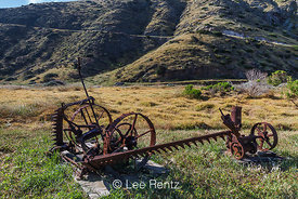 Old Ranch Machinery at Scorpion Ranch on Santa Cruz Island