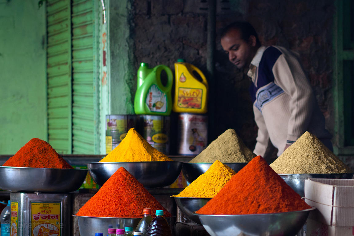 Chili powder for sale in Udaipur, Rajasthan, India