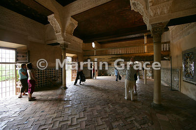 The hall of the Mexuar (council chamber) completed in 1365, Nasrid Palaces, Alhambra, Granada, Andalusia, Spain