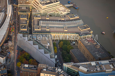 Aerial view of London, Hays Galleria and Cottons Centre.