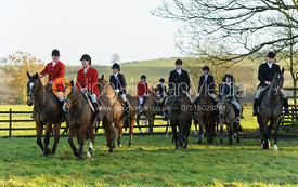 Followers arrive at the  Belvoir Hunt meet at Eaton Grange 2/1