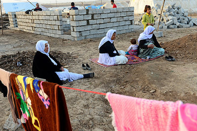 Yazidi Refugees forced to flee their home because of Islamic State