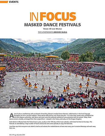 Bhutan-Mask-Dance-in-Jet-Wings-December 2014