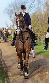 Arriving at the Belvoir Hunt sidesaddle meet