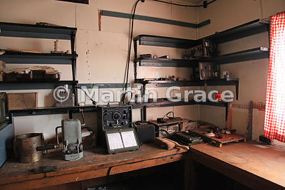 Radio room in British Antarctic Survey Base Y (1955-60, 1969), Horeshoe Island, Marguerite Bay, West Graham Land, Antarctic P...