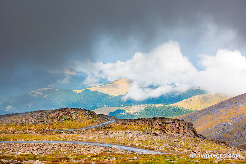 MOUNT EVANS ROAD SCENIC BYWAY COLORADO ROCKIES MOUNTAINS LANDSCAPE