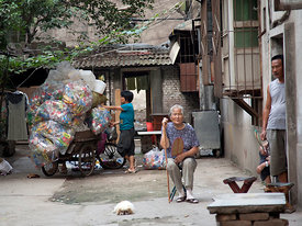The old lady in Xian