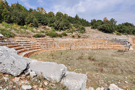 Amphitheatre at ancient ruined city of Adada, Turkey.