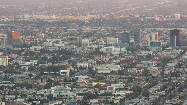 Bird's Eye: Los Angeles Up Close & Personal, Day & Night (Pan)