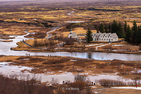 A scene at the Thingvellir National Park on the east of Reykjavik in Iceland.