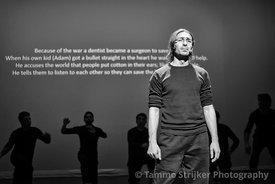 Fada Theater; a theatre group started by (Syrian) refugees. Starting small in the refugee centre in a Dutch prison, they perf...