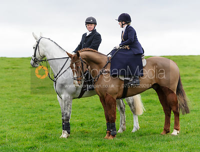 Frances Moulaert, Michael Elson at the meet - The Belvoir Hunt at Springfield Farm 25/2