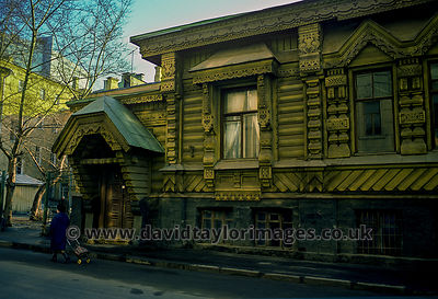 Wooden House | Arbat district Moscow | April 1976