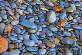 Pebbles on the beach - Europe, United Kingdom, England, Devon, Bude, Sandymouth Bay - digital