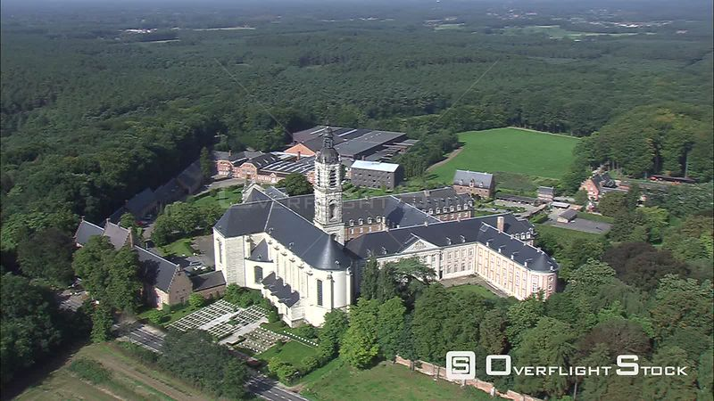 Orbiting the Abbey of Averbode, Belgium