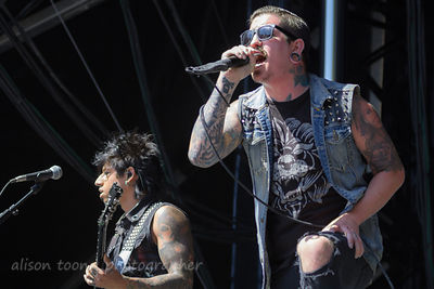 Craig Mabbitt and Kevin Thrasher, Escape the Fate, Aftershock 2014