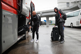 Players of Vardar during the Final Tournament - Final Four - SEHA - Gazprom league, Team arrival in Brest, Belarus, 06.04.201...