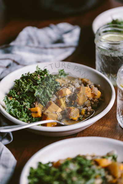 Slow Cooker Butternut Squash Lentil Stew