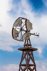 Historic Waupans Windmill in Nebraska