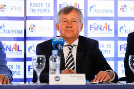 Michael Wiederer during the Final Tournament - Closing press conference - Final Four - SEHA - Gazprom league, Skopje, 15.04.2...