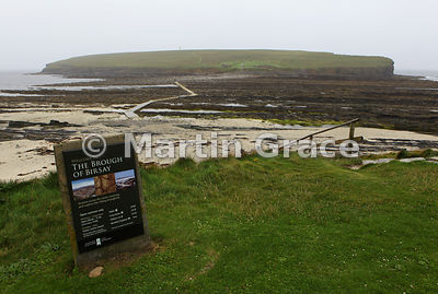 Brough of Birsay, a small island off West Mainland, Orkney, with extensive remains of a Viking settlement, a twelfth century ...