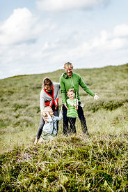 Danish family of four in the dunes