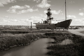Old lightship in Tollesbury Marshes