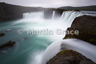 Godafoss waterfall ('Fall of the Gods'), on Skjalfandafljot river, Iceland