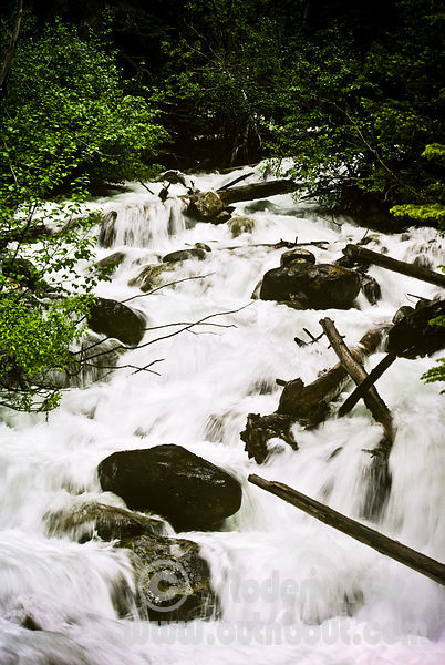 Spring Runoff on Bugaboo Creek