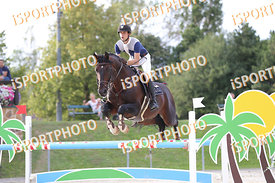 ESZES Ferenc (HUN) and ARGON during LAKE ARENA - The Summer Circuit II, CSI2*, GOOD BYE COMP, 140 cm, 2017 August 27 - Wiener...