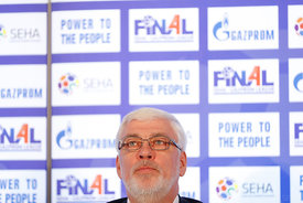 Alexander Meshkov during the Final Tournament - Closing press conference - Final Four - SEHA - Gazprom league, Skopje, 15.04....