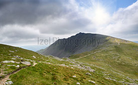 The summit of Dow Crag and Buck Pike in the English Lake District, UK.