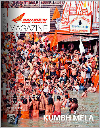 Kumbh Coverage - Air India Magazine;  January 2013