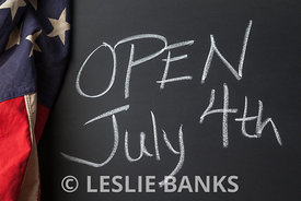 Open July 4th Sign