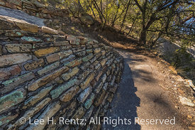 Stone Retaining Wall along Trail in El Morro National Monument