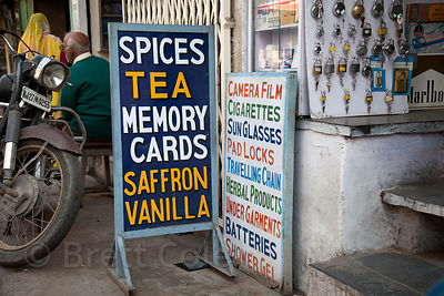 Spices, tea... memory cards? A sign of the times in Udaipur, Rajasthan, India