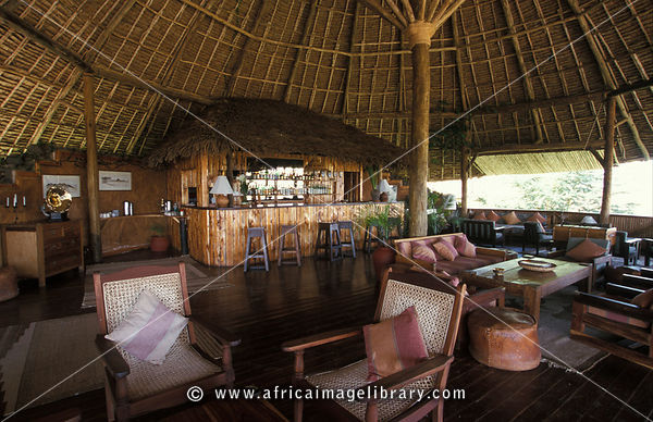 Tortilis Camp, lounge, Amboseli National Park, Kenya