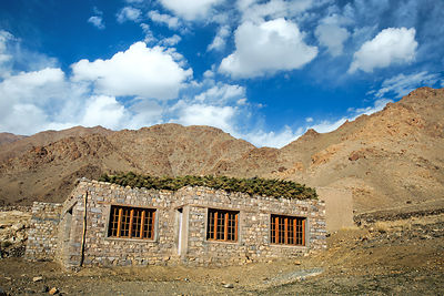 Farmhouse in the Himalayan desert, Leh, Ladakh, India