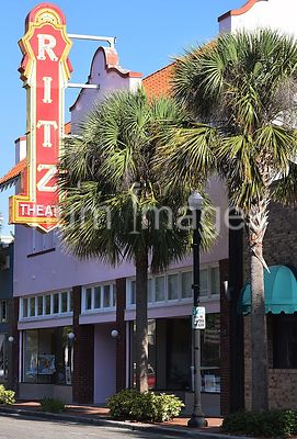 Ritz Theater sign in downtown Winter Haven Florida